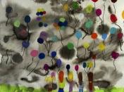 Expression libre dans l'atelier de peinture et de dessin de Anne Papillault à Marseille
